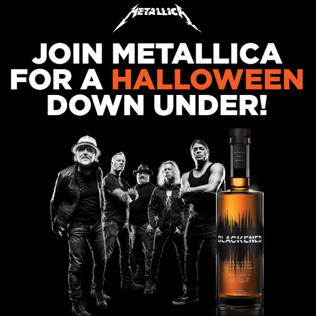 Blackened Whiskey is celebrating Halloween by giving metal fans a chance to enter to win a trip to see Metallica and Slipknot Down Under in New Zealand!
