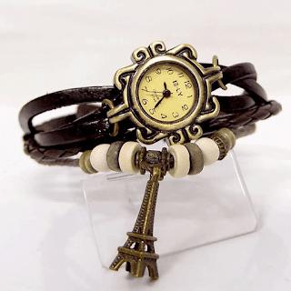 Harga Jam Tangan Gelang Kulit Braid Leather Watch Murah-murah