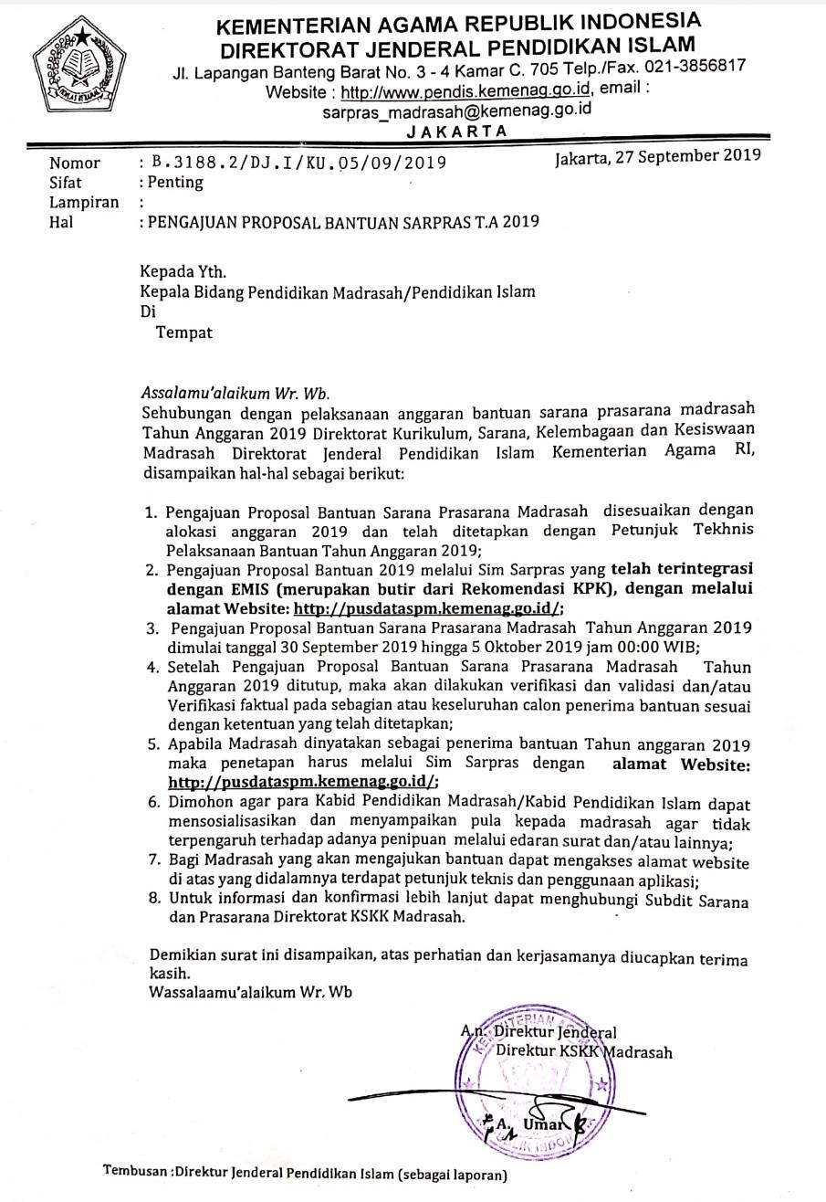 Info Penting Pengajuan Proposal Bantuan Sarana Dan ...