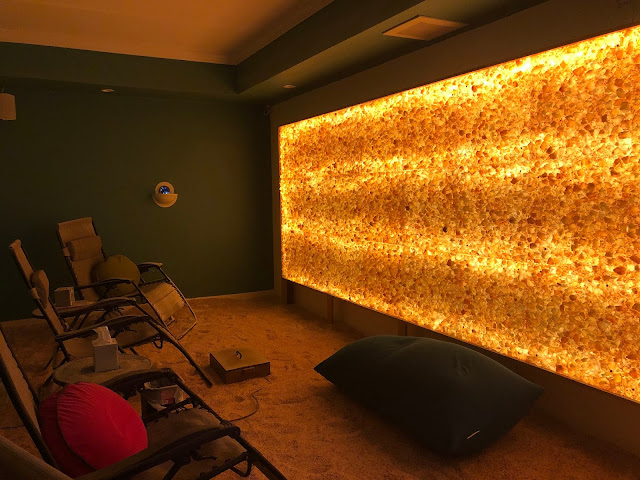 The heavenly salt wall at North Shore Salt immediate relaxes.