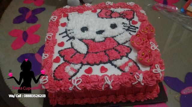 Kue tart Ultah Hello kitty Sidoarjo