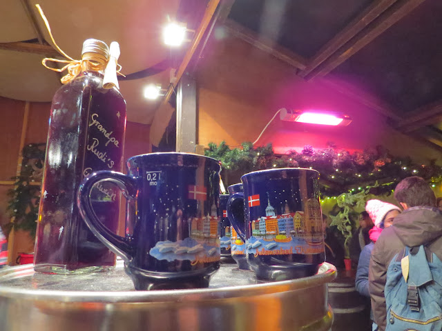 Souvenir mulled wine mugs at the Copenhagen Christmas Markets