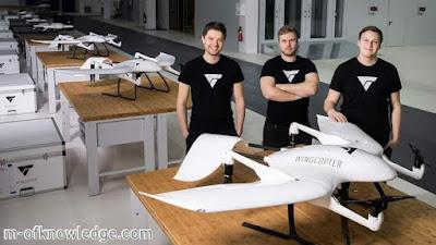 شركة وينج كوبتر Wingcopter الألمانية الناشئة تحصل على تمويل لتصنيع طائرات درون مخصصة لنقل البضائع
