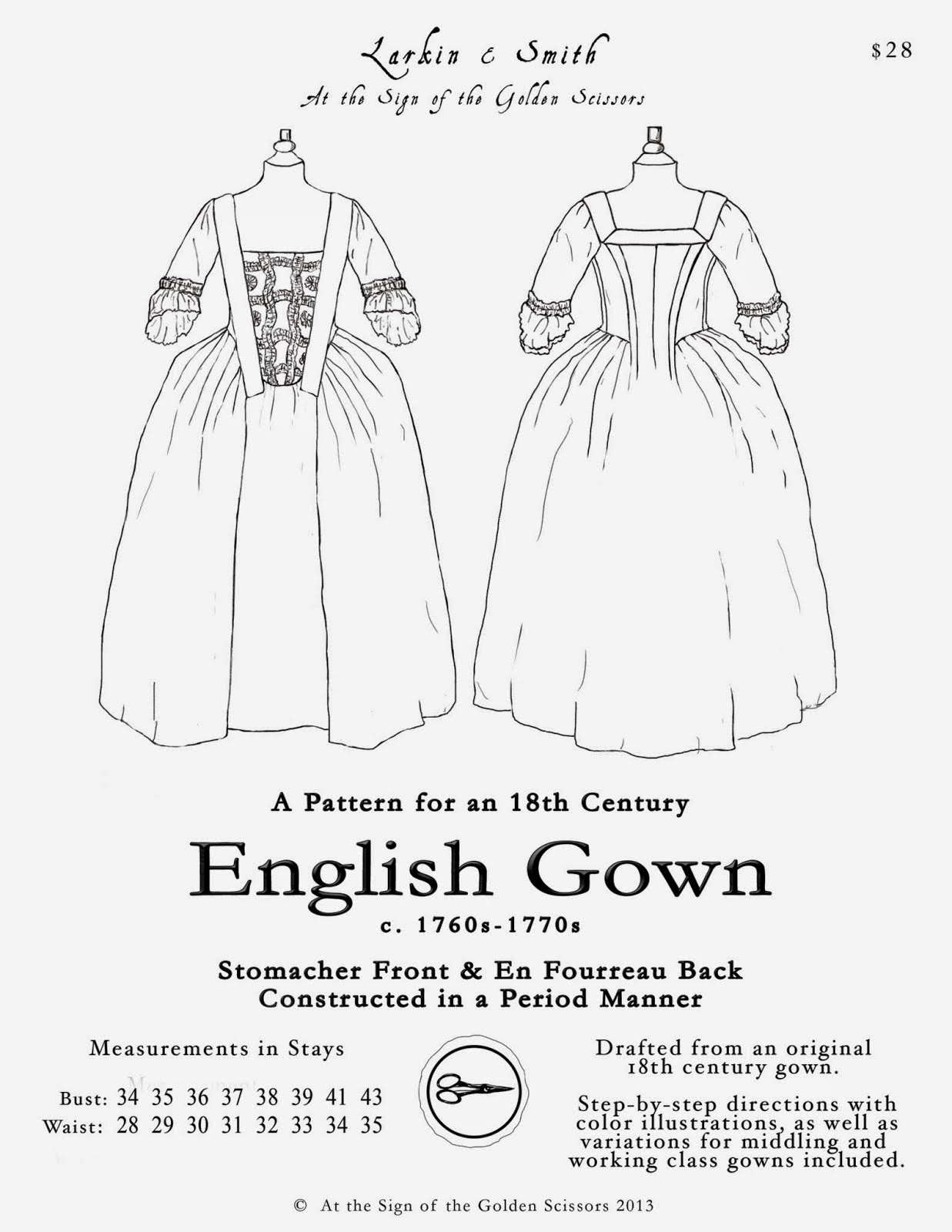 The Austrian Woman: Step By Step: A New 18th Century Dress