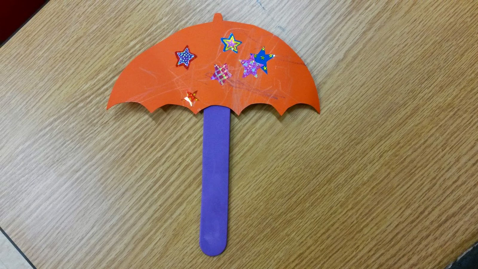 Decorated Umbrellas Mohers Day Craft