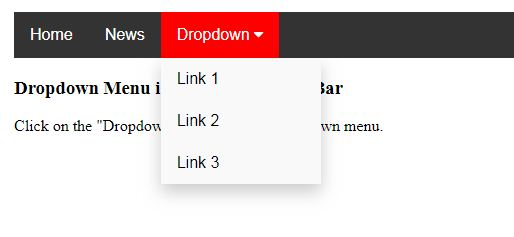 Menu Topnav dengan Dropdown