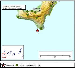 Terremoto El Hierro 14 junio de magnitud 3,3 El Pinar