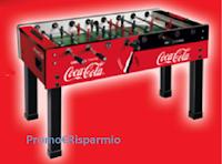 """Logo Concorso """"Vinci un Calcetto con Coca-Cola"""" : 10 calciobalilla in palio"""