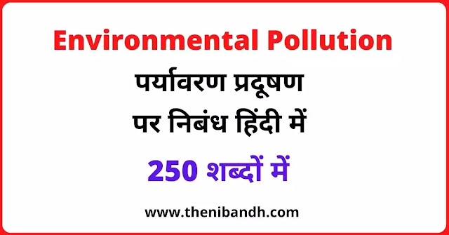 Environmental Pollution text image in hindi