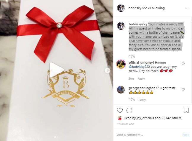 Bobrisky Set To Personally Deliver Her Birthday IV To 300 Guest And Fans