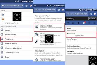 Cara Menggati Email Facebook Melalui Browser di HP #1