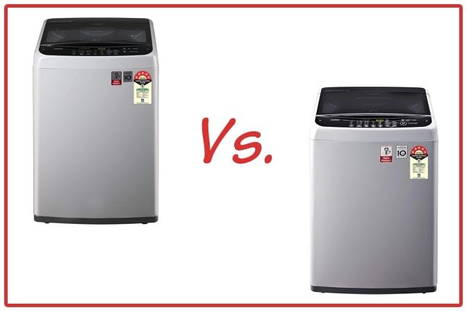 LG T70SPSF2Z and LG T65SNSF1Z Washing Machine Comparison.