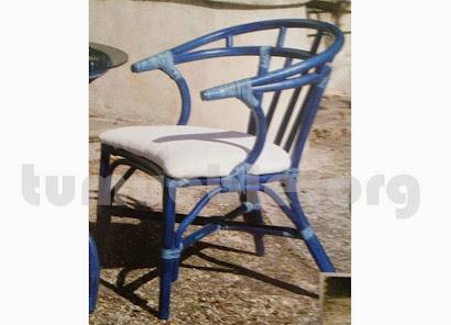 sillón para comedor hecho en caña de bambú j256