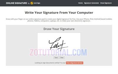 Cara Membuat Tanda Tangan digital by zotutorial.com