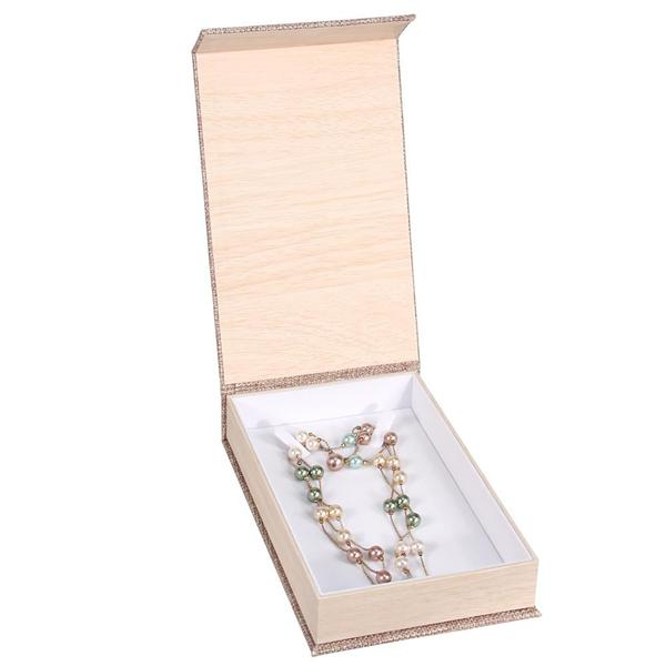 Buy Wholesale Deluxe Burlap Necklace Box at Nile Corp