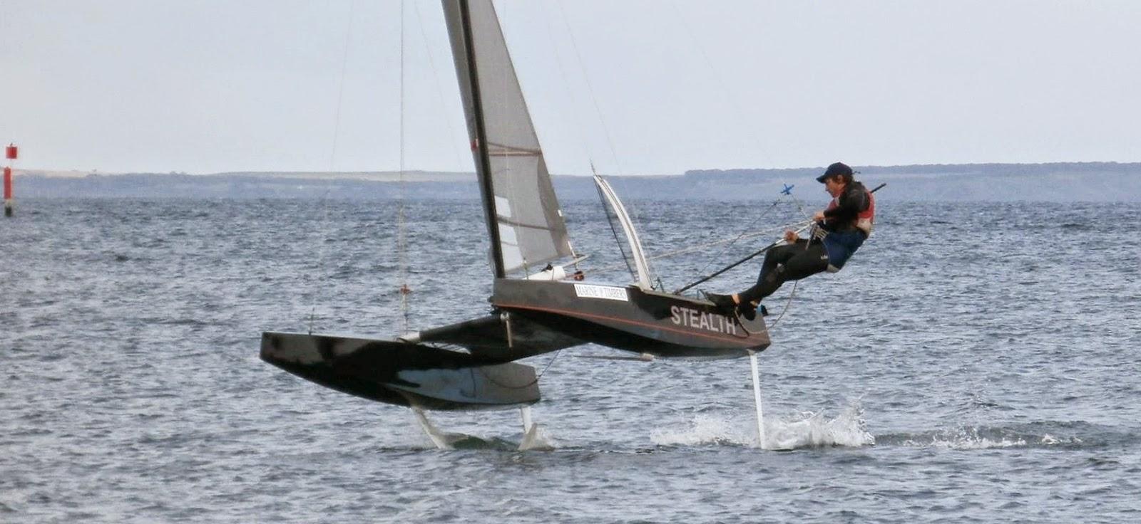 Custom Stealth Foiler From Australia Catamaran Racing