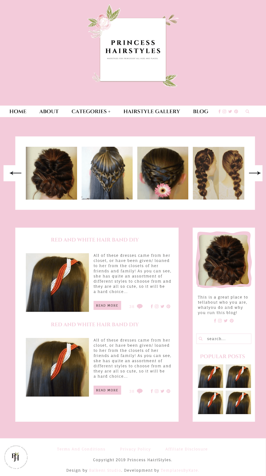 final web design for princess hairstyles