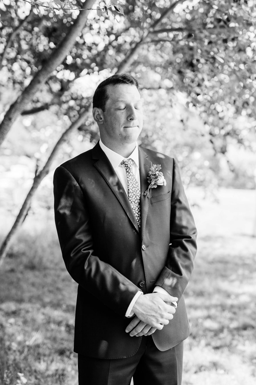 Emotional First Look Wedding Photography-Whidbey Island Wedding Photographers-Fireseed Catering Wedding-Something Minted