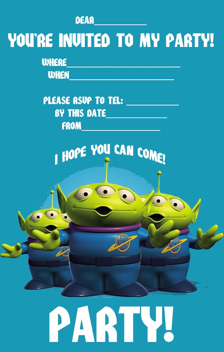 Printable Invitations Toy Story