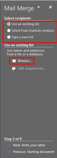 memilih file source data