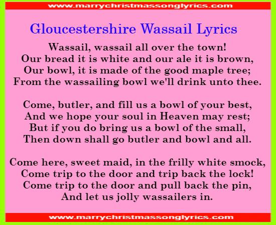 Gloucestershire Wassail Lyrics Image