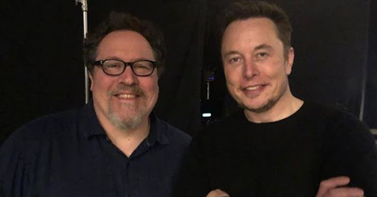 Elon Musk Visits The Set Of 'The Mandalorian'