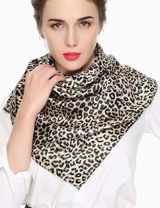 Good Quality Leopard Animal Print Satin Scarves