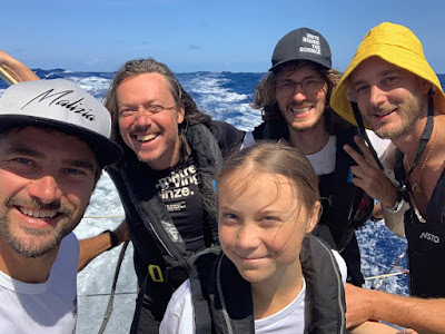 Greta Thunberg traverse l'Atlantique