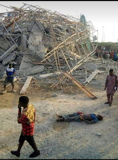 Tragedy As An 8-Storey Building Under Construction Collapses In Imo State