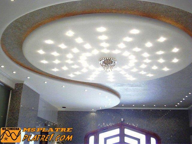 Faux Plafond de Salon Moderne 2015