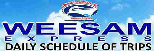 weesam daily schedules for cebu to bohol philippines 2018