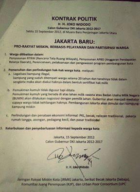 Naskah Kontrak Politik Jokowi yang 100% Di ingkari - naon wae