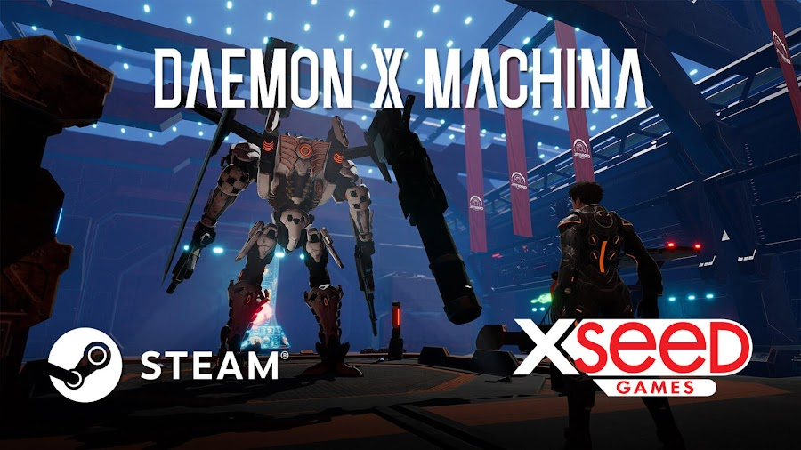 daemon x machina steam release date february 13 marvelous first studio xseed games third-person shooter action game pc