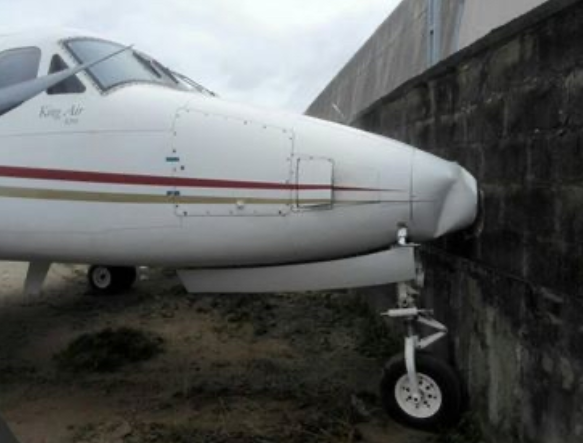 Jet crashes into fence at Lagos Airport