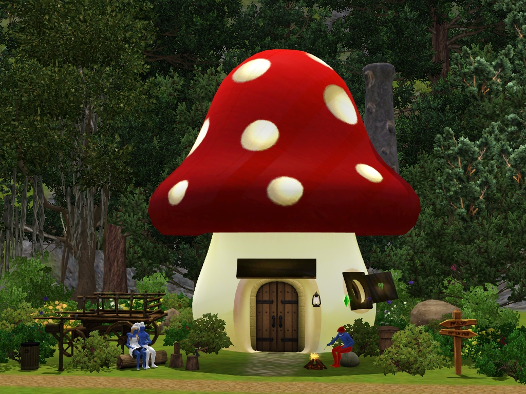 Sil Fantasy: 3 Smurfs Sims and a Smurf House Lot
