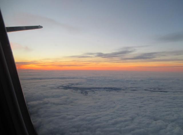 taivas, pilvet, lento, auringon nousu, aamu
