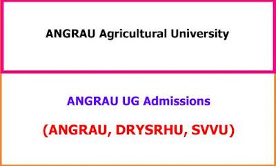 ANGRAU UG Admissions