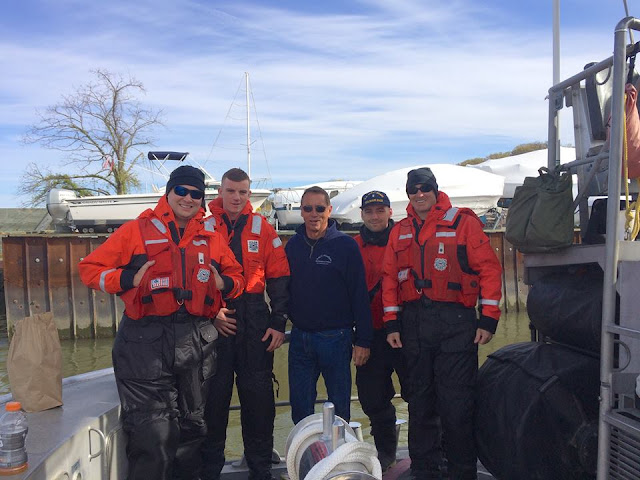 Fl-16-07 member Jim Picciano with members of the Station Manasquan 47' Motor Lifeboat Crew