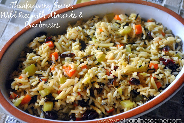 thanksgiving series: wild rice with almonds & cranberries (arroz selvagem com amêndoas & cranberries)