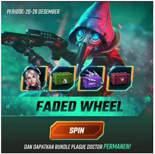 Event Faded Wheel Battle Angel FF Free Fire dapat hadiah utama Plague Doctor