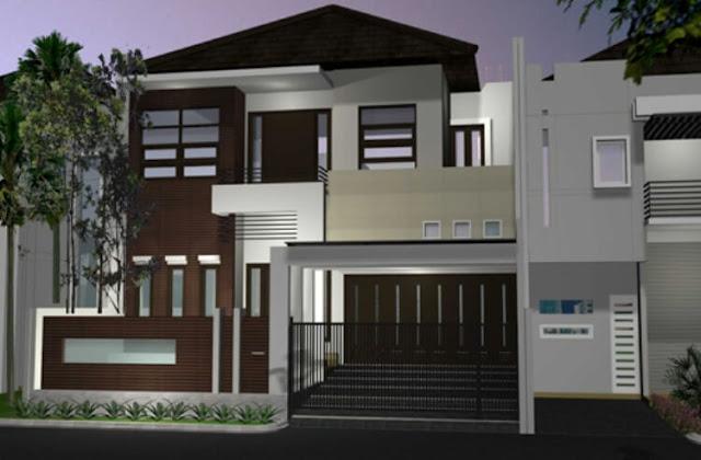 gambar rumah tingkat minimalis modern