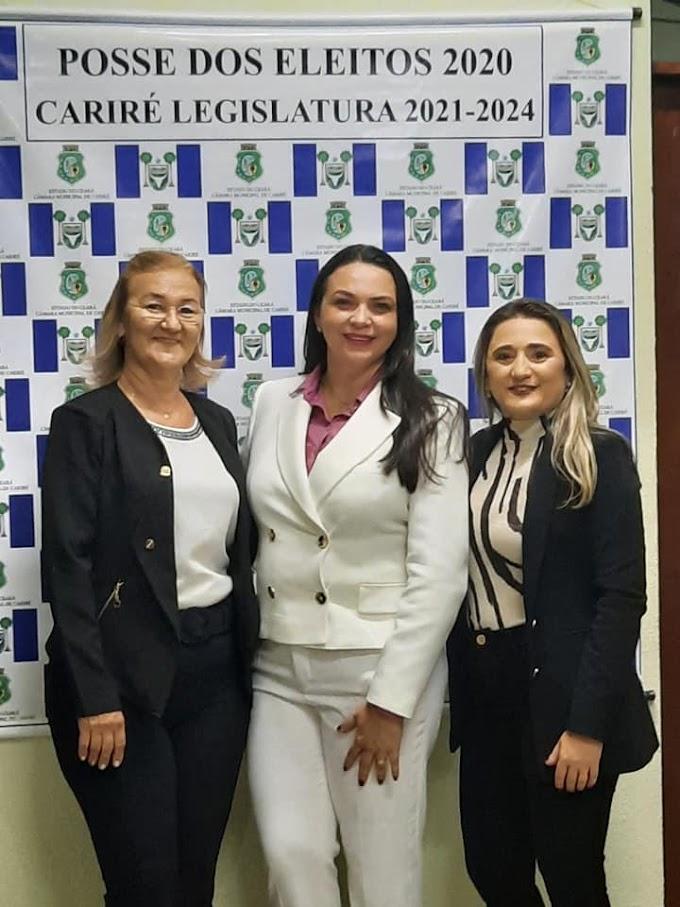 Pela primeira vez na história, mulheres passam a comandar a Mesa Diretora da Câmara Municipal de Vereadores de Cariré-CE