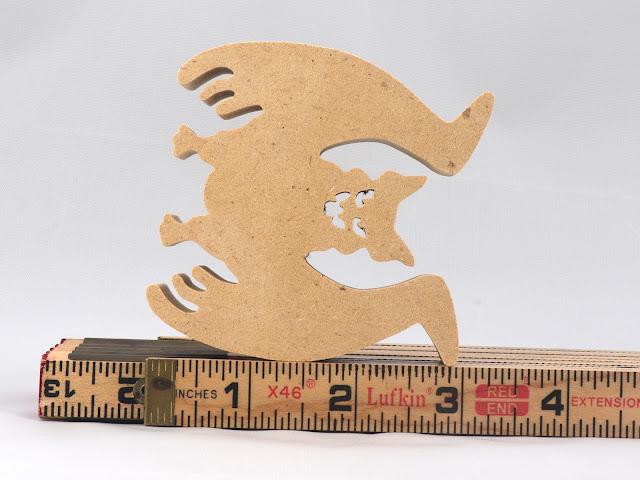 Handmade Wood Halloween Bat Cutout