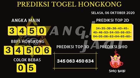 Prediksi Angka Jitu HK Selasa 06 Oktober 2020