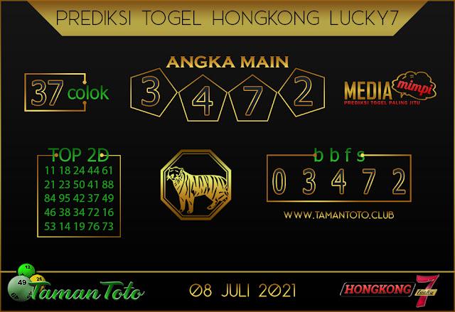 Prediksi Togel HONGKONG LUCKY 7 TAMAN TOTO 08 JULI 2021