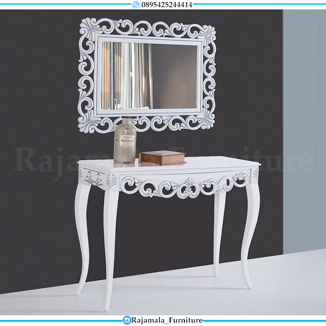 New Model Meja Konsul Mewah Luxury Carving Jepara Furniture Terbaru RM-0409
