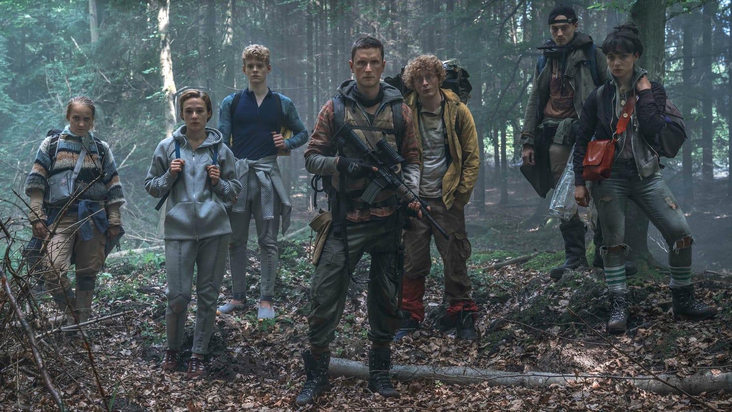 El grupo de supervivientes protagonistas de The Rain, de Netflix