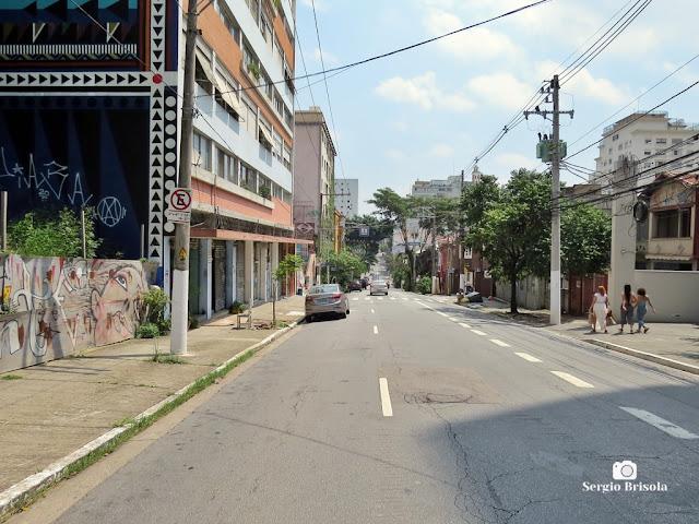 Vista ampla de trecho da Rua Cardeal Arcoverde - Pinheiros