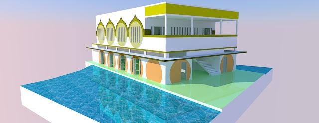 Gambar Masjid 2 Lantai