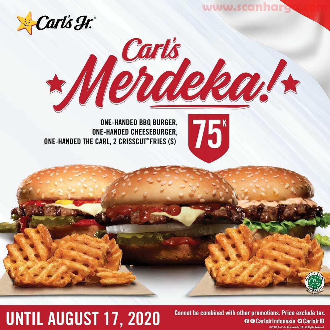 Promo Carl's Jr Merdeka Paket Makan Rame – Rame